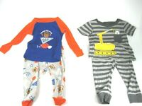 9 MONTH AND 12 MONTH PAJAMAS LOT OF 4 ITEMS (GENTLY USED)