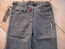 (C211) Parrot Girls Jeans Hose silberne Naht & extra Reißverschluß Tasche gr.128