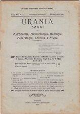 Urania, rivista, 1926, anno XV n. 2, astronomia, mineralogia, chimica, fisica