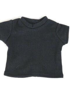 Black T-Shirt fits American Girl Dolls 18 inch Doll Clothes Short Sleeve