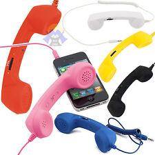 CORNETTA Telefonica TELEFONO Cuffia AURICOLARE Cellulare FISSO per iPHONE Retro'