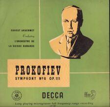 "Prokofiev(12"" Vinyl)Symphony No.6 Op.111/ Ansermet-Decca-LXT.2667-UK--VG/VG"
