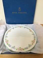Vintage, Boxed, Royal Worcester Cake Gateaux Plate English Garden.
