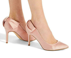 Simply Be Pink Nude Bow Heel Court Shoes Extra Wide Fit