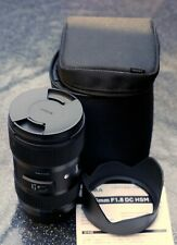 Sigma 18-35mm F1.8 DC HSM 'a' Arte de montaje de la lente Canon EF