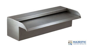 """NAKANO 12"""" WATERFALL SPILLWAY SCUPPER FOR POOL OR FOUNTAIN - 316 STAINLESS"""
