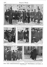 Yale University - Scenes of  Bicentennial Celebration -  1901 Antique Print