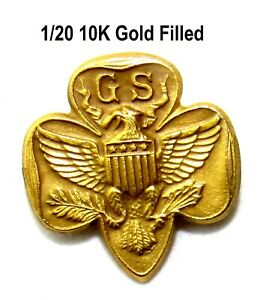 GOLD FILLED Type 5 SPECIAL Girl Scout MEMBERSHIP PIN, Collectors Historians GIFT