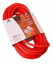 50 Ft Extension Cord 12 Gauge Lit End AWG Heavy Duty UL NEW 12/3 Foot Feet