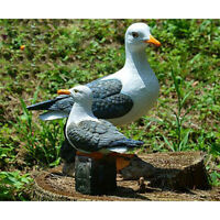 Garden Sculpture Decor 8-inch Seagull Statue Animal Resin Crafts Landscape