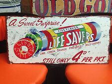 LIFE SAVERS HUGE LIFESAVERS HEAVY DUTY TIN METAL SIGN PERFECT FOR BAR MAN CAVE