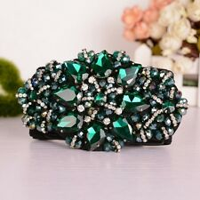New Gorgeous Green Crystal Flower Wide Corset Elastic Waist Belt Waistband Strap