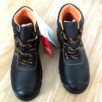 REAL LEATHER OIL RESISTANT SHOCK  Men Light Safety Steel Toe Cap Work Boot Size