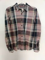 FAT FACE Men's shirts CHECK PINK BLUE SIZE M