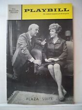 PLAZA SUITE Playbill NEIL SIMON / DON PORTER / PEGGY CASS NYC 1970