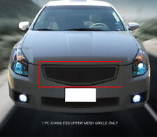 Black Mesh Grille Grill Upper Stainless Steel For Nissan Maxima 2007-2008