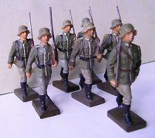 Lineol  ★★★ 6 Soldaten und ein Offizier 7,5 cm Serie ★★★ 42
