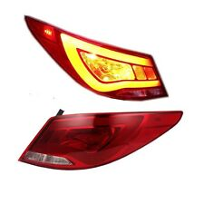 LED Red Clear Rear Lamp Tail lights For 2012-2015 Hyundai Accent Verna Solaris