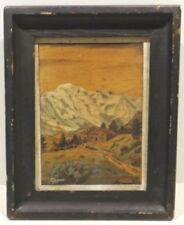 Landschaften künstlerische Malerei aus Holz im Art Deco-Stil