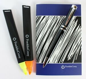 Franklin Covey by Cross Ballpoint Pen, Highlighters, Notebook Gift Set 3 Types