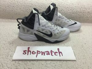🔥🔥🔥NIKE ZOOM HYPERFUSE high top grey 615896-004  size 10