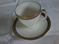 xyx  Melitta Porzellan Tasse und Untertasse Dekor Kobaltblau mit Goldrand
