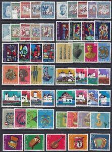 Schweiz Switzerland Pro Patria Selection 1965-85 (13 sets) ** MNH