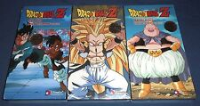 Dragon Ball Z ~ Lot of 3 Sealed VHS Video Tapes ~ All Uncut Versions!