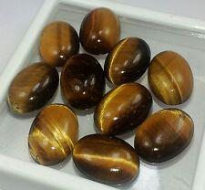 40.00 CT 10 Pcs Yellow Tiger Eye 100%Natural 11x8x4 mm Wholesale Lot Gems W1596