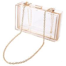 Acrylic Clear Transparent Evening Clutches Shoulder Bag Handbag for Women Ladies