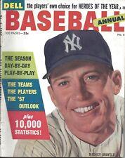 1957 Dell Annual Baseball Magazine, Mickey Mantle, New York Yankees ~ EX
