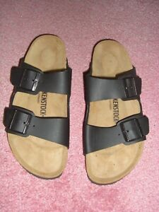 Brand New without tags ~ Men's Black Birkenstock sandals.  Size 9 (European 42)