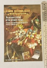 Fire Emblem The Sacred Stones Rare Print Advertisement