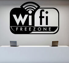 Wall Sticker Vinyl Decal Signboard for Game Club Wifi Free Zone (n989)