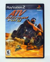 ATV OFFROAD FURY PlayStation 2 PS2 Game COMPLETE w/MANUAL 2001