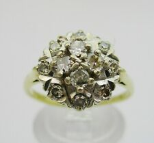 18ct Gold & Diamond Cluster Ring.  Size O.