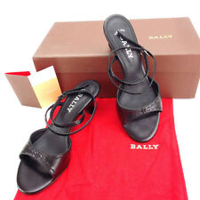 Bally Flip Flops Black Silver Woman Authentic Used Y3351