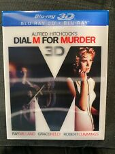 Dial M for Murder (Blu-ray Disc, 2012, 3D) RARE with Holographic SLIP COVER!!