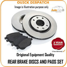 12511 REAR BRAKE DISCS AND PADS FOR PEUGEOT 207 GT 1.6T 16V 10/2006-
