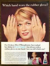 1964 Ivory Liquid Print Ad Which Hand Wore the Rubber Gloves Mrs O'Shaughnessy
