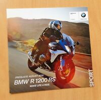 1596) BMW Motorrad BMW R 1200 RS Prospekt 2016 brochure