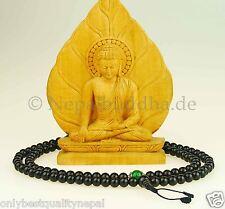 """Negros cadena de oración mala Onyx """"verde jade"""" cuello joyas joyas de nepal 101h"""