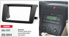 CARAV 09-004 Car 2DIN Radio Frame Fascia Dash Install Trim Panel Fits for SKODA
