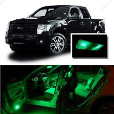 For Ford F250 F350 1999-2010 Green LED Interior Kit + Green License Light LED