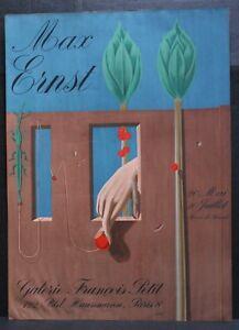 MAX ERNST, GALERIE FRANÇOIS PETIT, 1969