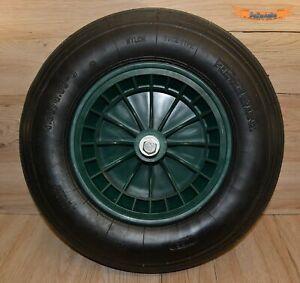 Karrenrad, Schubkarrenrad, Reifen 400x100mm mit Kunststofffelge Schlauch & Achse