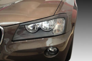 For BMW X3 F25 2011-2014 PREFACELIFT EYEBROWS HEADLIGHT COVER ABS PLASTIC