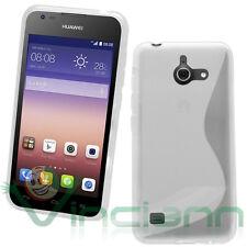Custodia WAVE BIANCA per Huawei Ascend Y550 cover aderente case gel flessibile