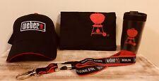 WEBER Fan Paket Basecap Grillschürze Thermobecher Keyholder Weihnachtsgeschenk