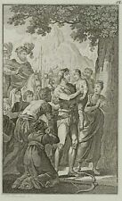 J. BLASCHKE, Wilhelm Tell trifft d. Apfel a.d. Kopf s. Sohnes, 19. Jhd., Sthlst.